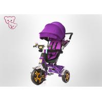 0 - 36 Months Toddler Push Tricycle , Rotating Seat Tricycle For Baby Girl