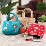 Buy cheap Wholesale Korean cute pula girl hand carry canvas coin purse cartoon cute cloth key bag coin bag product