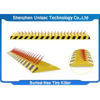 Buy cheap Yellow Color Tyre Spike Barrier / Killer Waterproof Function , Stainless Steel Material product