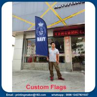 Buy cheap Outdoor Custom Blade Feather Flags With Ground Spike product