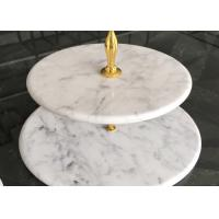 Buy cheap Food Tray Dessert Tray Natural Stone Crafts With White Marble Stones product