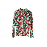 China Scuba Womens Rash Guard Shirt Flower Pattern For Diving Surfing Swimming on sale