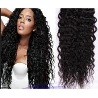 Real Curly Human Hair Extensions Double Knots Soft For Dream Girl