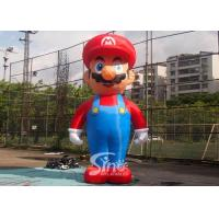 China 5m High Advertising Big Inflatable Super Mario For Promotion Activities From Guangzhou Inflatables on sale