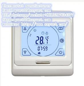 Buy cheap термостат комнаты экрана касания 3А 16А для гостеприимсва системы хэайтнг пола к ОЭМ product