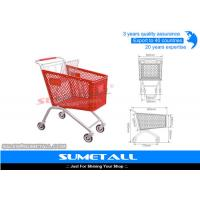 China Classic 125L Plastic Shopping Cart With Wheels , Grocery Store Shopping Carts on sale