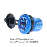 Buy cheap 2020 New Trends portable mobile phone dual usb QC3.0 Car Charger Power Plug product