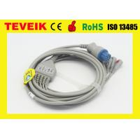 Buy cheap One Piece Datex Cardiocap ECG Cable for Patient Monitor , 5 leads Round 10pin from wholesalers