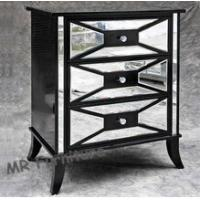Buy cheap Black Hollywood Mirrored Night Stands For Bedroom 4mm Mirror Thickness product