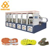 Buy cheap CE SGS 6 Stations Rubber Shoe Sole Making Machine1-2 Color 2 Years Gurantee product
