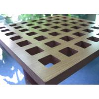 Buy cheap Eco Friendly MDF Acoustic Panel With Black Acoustic Fabric Back Finish BT new pattern product