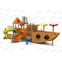 Buy cheap Ship Series Children ' S Wooden Playground Equipment Colorful Slides In Big Size product