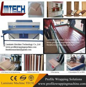 Buy cheap PVC decorative wood carvings door furniture vacuum membrane press machine from wholesalers