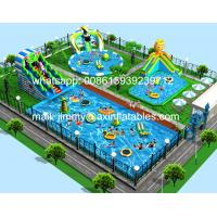 China Attractive Outdoor Inflatable Water Slide With Pool,Frame Pool Type Inflatable Water Park Business Plan For Family Fun on sale