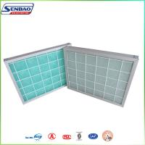 Buy cheap Алюминиевые воздушные фильтры стеклоткани зеленого цвета панели рамки самонаводят пневматическая система from wholesalers
