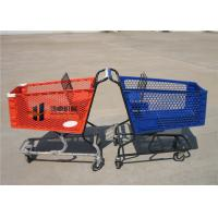 China 180L Pure Plastic Shopping Carts With Wheels , Custom Small Plastic Trolley on sale