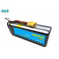China Rechargeable RC Car Battery 35C 14.8V 1800mAh Li Polymer For Mini Helicopter / Airplane on sale