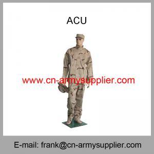 Buy cheap 卸し売り安い中国の軍の砂漠のカムフラージュACUの軍隊の戦闘のユニフォーム product