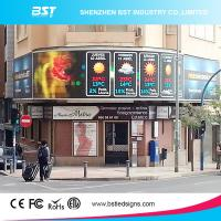 China P6 High Brightness advertising led screen IP65 16 Bit with 3G / 4G wireless controller wholesale