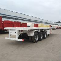 Buy cheap 2 Axle 3 Axle 40 Ft 20 Footer Container Semi Trailer Chassis Flat Bed Flatbed Trailer product