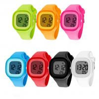 Buy cheap Square Plastic Case LCD Digital Sports Watch With Silicone Band Soft Touch product