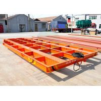 Buy cheap 5t automobile flat bed rail transfer bogie running on steel rail in painting blasting room product