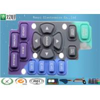 Buy cheap Purple Blue Black Silicone  Keypad Carbon Pill Conductive Contact Color Key Print product