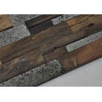 China Natural Mosaic Wood Floor Mixed Color , Old Ship Modular Wood Wall Panels on sale