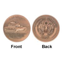 Buy cheap Patton ARMY M - 60 Tank Commemorative Coins  Red Copper For Gifts product