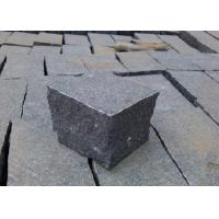 Buy cheap Natural Split Black Outdoor Paving Stones , Granite Grey Black Paving Stones product