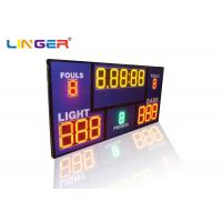 Buy cheap Inside loud Buzzer MultiSport Electronic led Basketball Scoreboard with Shot Clock Timer from wholesalers