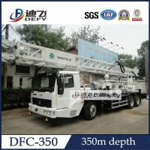 La foreuse montée par camion du maximum 350m pour le puits d'eau a utilisé la machine de plate-forme de forage DFC-350