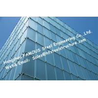 China Double Silver Low-E Coating Film Glazed Stick-built System Glass Façade Curtain Wall Office Buildings wholesale