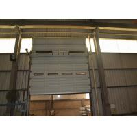 China Wind resistance steel overhead doors installation by sectional panel on sale