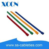 Buy cheap Ball Lock Plastic Coated Stainless Steel Cable Ties Acetic Acid Resistant product