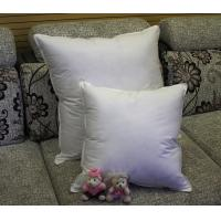 Buy cheap 2cm - 4cm White Duck Feather Cotton Cushion Inserts Double Stitched Piping for Home / Hotel product