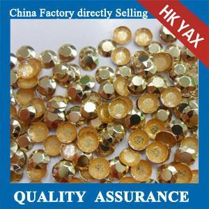 Buy cheap Bulk wholesale light topaz iron on rhinestud, hot fix rhinstud for garment, hot fix studs product