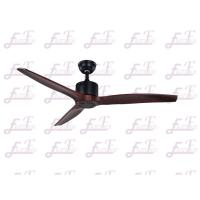 China East Fan 52 inch dark wood blade rustic ceiling fan without light on sale