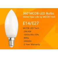 China MCOB 4W Dimmable C35 E14 LED Bulbs, 40W Incandescent Bulbs Equivalent, Candelabra Bulbs, 440lm, 180° Beam Angle, Warm Wh on sale