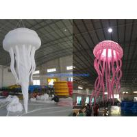 China 1.6m Dia Night Club Inflatable Advertising Balloon Decorative Night Light Jellyfish on sale