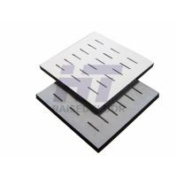Buy cheap Calcium Sulphate Conductive Perforated Raised Floor For Server Room PVC Finish product