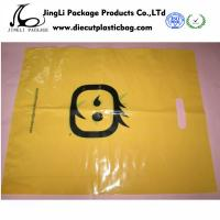 Quality Yellow LDPE / side guesst And Plastic Die Cut Handle Bags resealable , Custom for sale