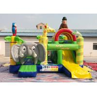 Buy cheap Safari World Jungle elephant Inflatable Bouncy Castle for kids Outdoor N Indoor Playground Fun product