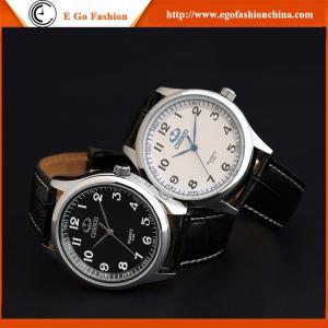 montres analogues de quartz de montres de cuir de qualité de montres d'OEM 010A pour l'homme de la montre des hommes de femme