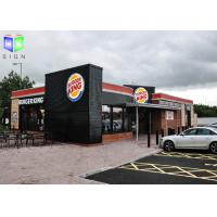 China Floor Standing Outdoor Lighted Signs For Business Silk Screen Burger King on sale