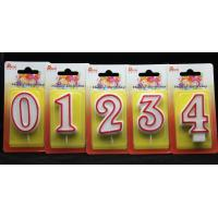 Number Birthday Candles With Red Edge And Plastic Holder for sale
