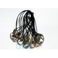 Buy cheap Black Nylon Phone String Loop With Small Split Ring Holder Short Slim Cord from wholesalers