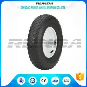 """Blocky Patterns Pneumatic Rubber Wheels 2PR ,  Hand Trolley Wheels8"""" Steel Rim"""