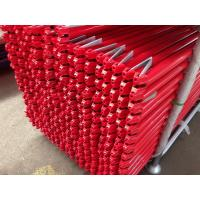 Buy cheap Ringlock scaffolding horizontal red powder coated product
