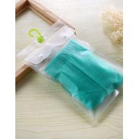 Frosted Hanger Hook Plastic PVC Bag , PVC Poly Bag For Clothes / Swimwear / Bikini